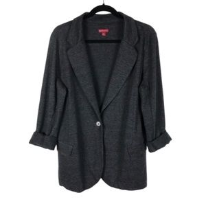 Merona Dark Gray Knit Blazer Jacket